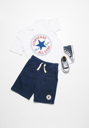 Converse Kids Core French Terry Shorts Blue