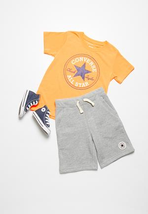 Converse Kids Core French Terry Shorts Grey