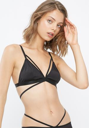 Dailyfriday Sara Strappy Bralette Black
