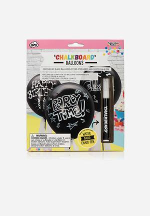 NPW Chalkboard Balloons Partyware