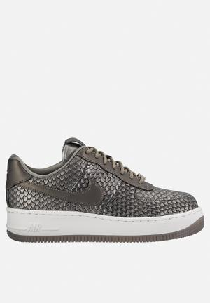 Nike Air Force 1 Upstep PRM Sneakers Mtllc Pewter / White