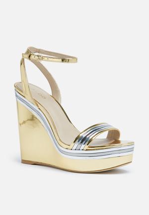 ALDO Janila Heels Gold & Silver