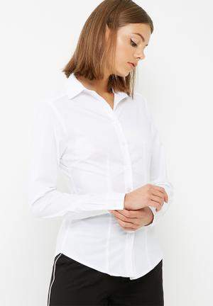 Dailyfriday Fitted Long Sleeve Shirt White