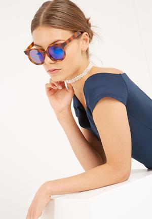 Dailyfriday Round Plastic Sunglass With Mirror Eyewear Plastic