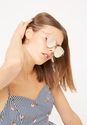 Dailyfriday Alia Sunglass Eyewear Metallic