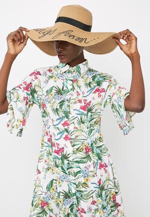 Dailyfriday Summer Wide Brim Hat Headwear Neutral