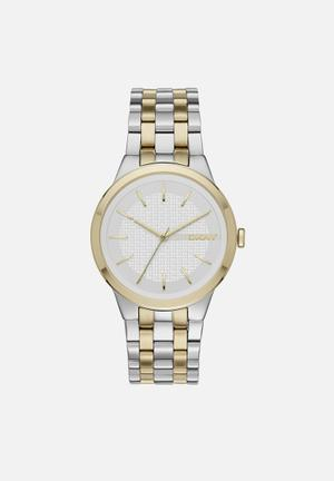 DKNY Park Slope Watches Gold & Silver