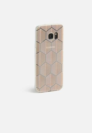 Hey Casey Darted Lines IPhone & Samsung Cover Bronze