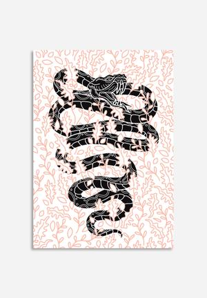 Sixth Floor Floral Snake Art
