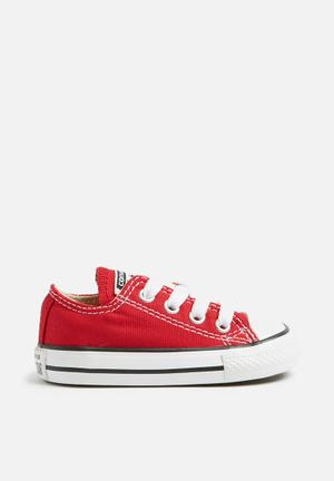 Converse Infant All Star LO Shoes Red
