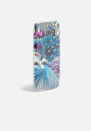 Hey Casey Jungle Orchid IPhone & Samsung Cover Teal, Purple & White