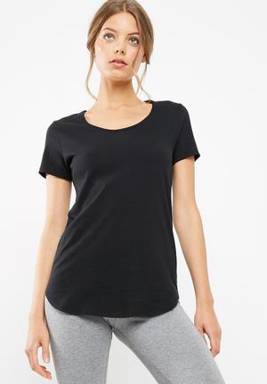 Dailyfriday Slouchy Gym Tee T-Shirts Black