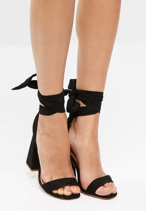 Public Desire Honesty Heels Black