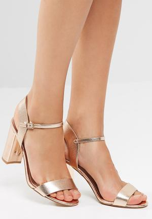 New Look Strike Heels Rose Gold