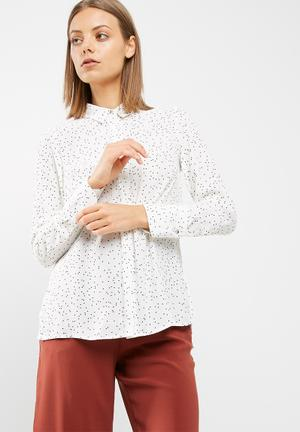 New Look Spot Soft Shirt White