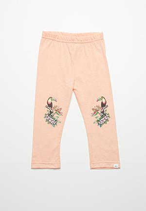 Rip Curl Parrot Palm Leggings Pants & Jeans Coral