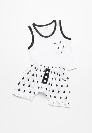 Kapas Baby Shorts Black