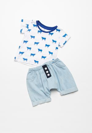Kapas Baby Shorts Blue