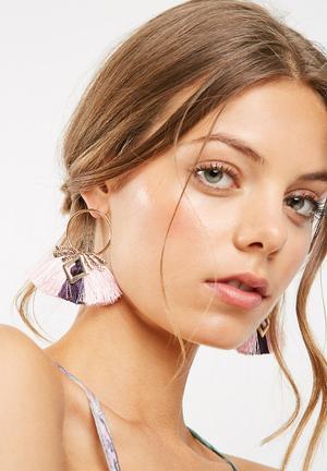 Miss Maxi Jess Tassle Earrings Jewellery Pink