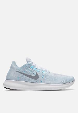 Nike Free Run Flyknit 2017 Trainers Pure Platinum / Silver