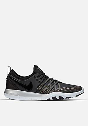 Nike Free TR 7 Metallic Trainers Black / Pure Platinum