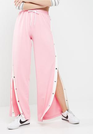 Wide leg popper jogger trousers