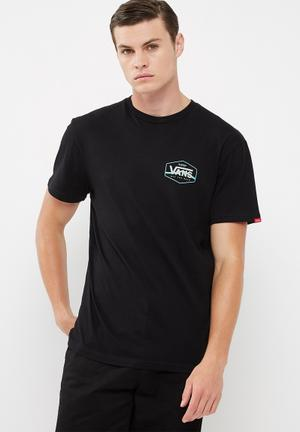 Vans Side Stripe T-Shirts & Vests Black
