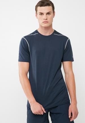 New Look Active Mesh Tee T-Shirts Navy