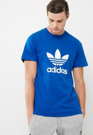 Adidas Originals Originals Trefoil Tee T-Shirts Blue & White