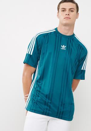 Adidas Originals JAG Jersey Tee T-Shirts Blue & White