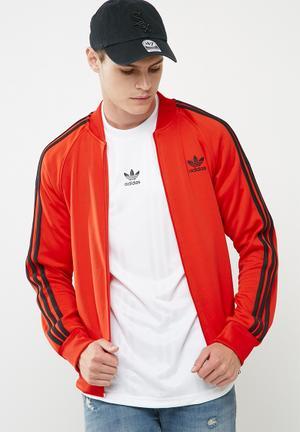 Adidas Originals SST Track Top Hoodies, Sweats & Jackets Red