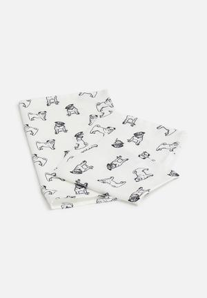 Sixth Floor Pug Love Napkin Set Of 2 Dining & Napery 100% Polyester