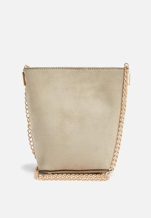 New Look Mini Bucket Chain Shoulder Bags & Purses Beige