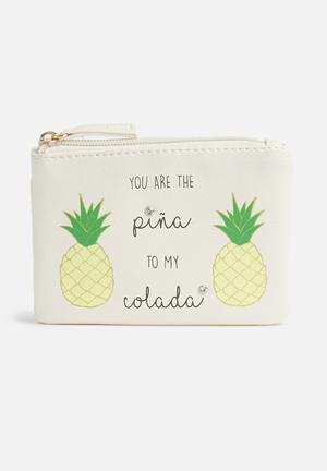 New Look Pina Colada Novelty Bags & Purses Cream, Yellow, Green, Gold & Black