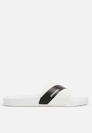 Diesel  S-Maral Slide Sandals & Flip Flops White