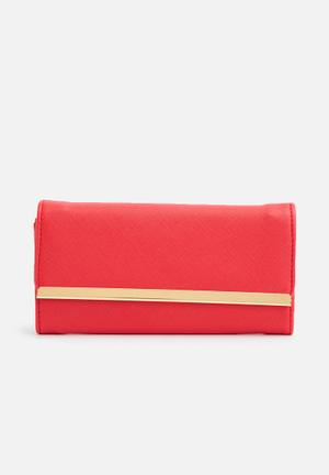 Dailyfriday Red Wallet Bags & Purses Red