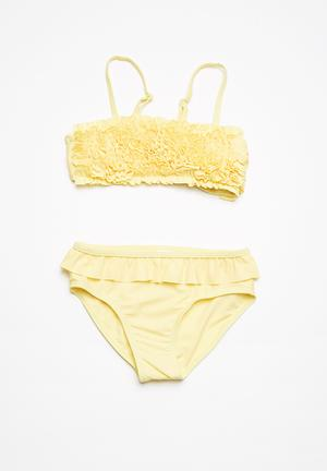 MINOTI Bandeau Bikini Set Swimwear Yellow
