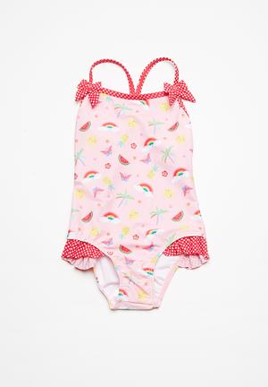 MINOTI Fruit Swimsuit Swimwear Pink