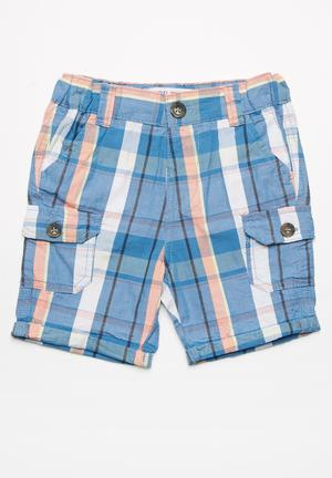 MINOTI Checked Short Blue & White
