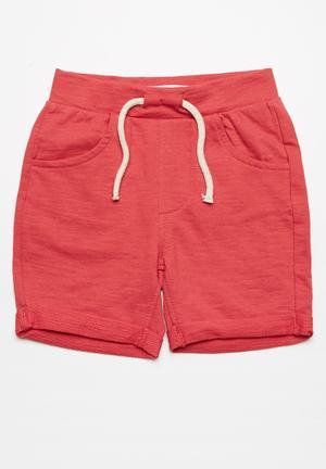 MINOTI Fleece Shorts Red