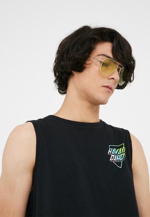 Basicthread Tinted Aviator Sunglasses Eyewear Metal