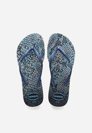 Havaianas Slim Animals Sandals & Flip Flops Navy