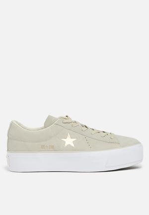 Converse One Star Platform Sneakers Sesame