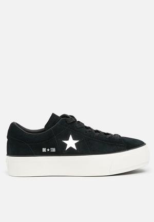 Converse One Star Platform Sneakers Black