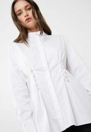 Dailyfriday Poplin Shirt With Pearl Buttons White