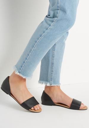 Cotton On Dixie Peep Sandals & Flip Flops Black