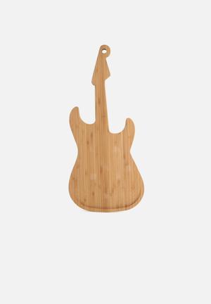 Kikkerland Cutting Board Bamboo Guitar Kitchen Accessories Bamboo