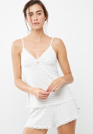 Dorina Romy Cami Sleepwear Grey & White