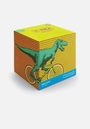 Mustard  T-rex Memo Block Gifting & Stationery