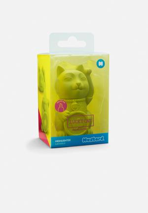 Mustard  Lucky Cat Highlighter Gifting & Stationery Lime